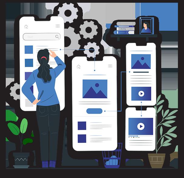 Mobile App Design PNG