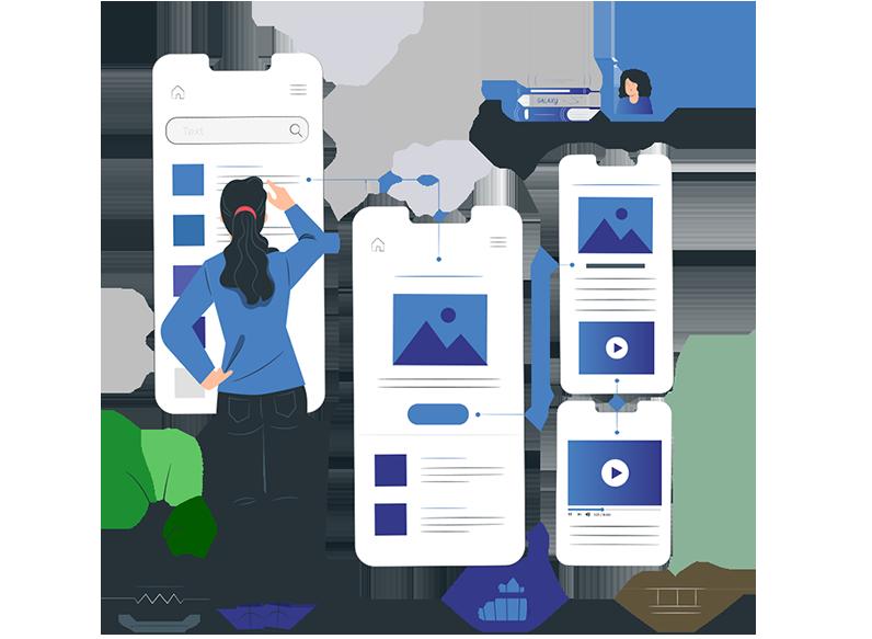 mobile app design vector