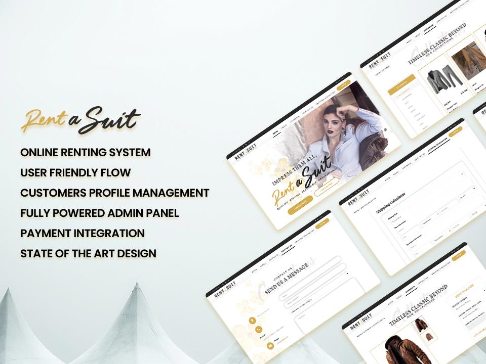 Rent a suit Website